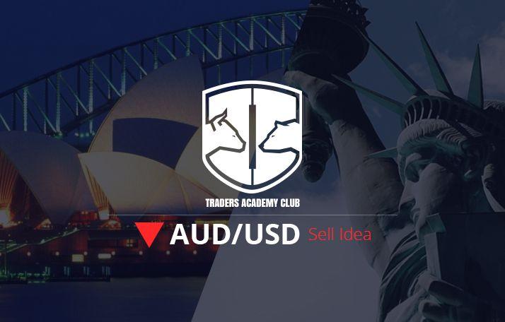 فكرة للتداول – AUDUSD اعداد بيع بعد كسر خط الاتجاه