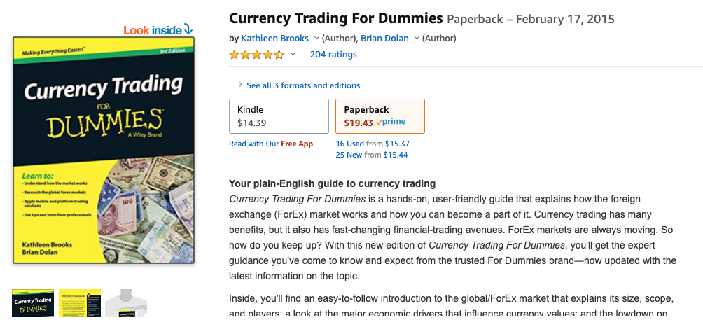 Currency Trading for Dummies by Mark Galant