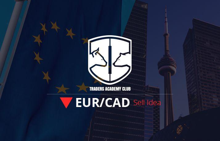 تحليل الفني – فكرة بيع EURCAD على أساس نموذج العلم الهبوطي
