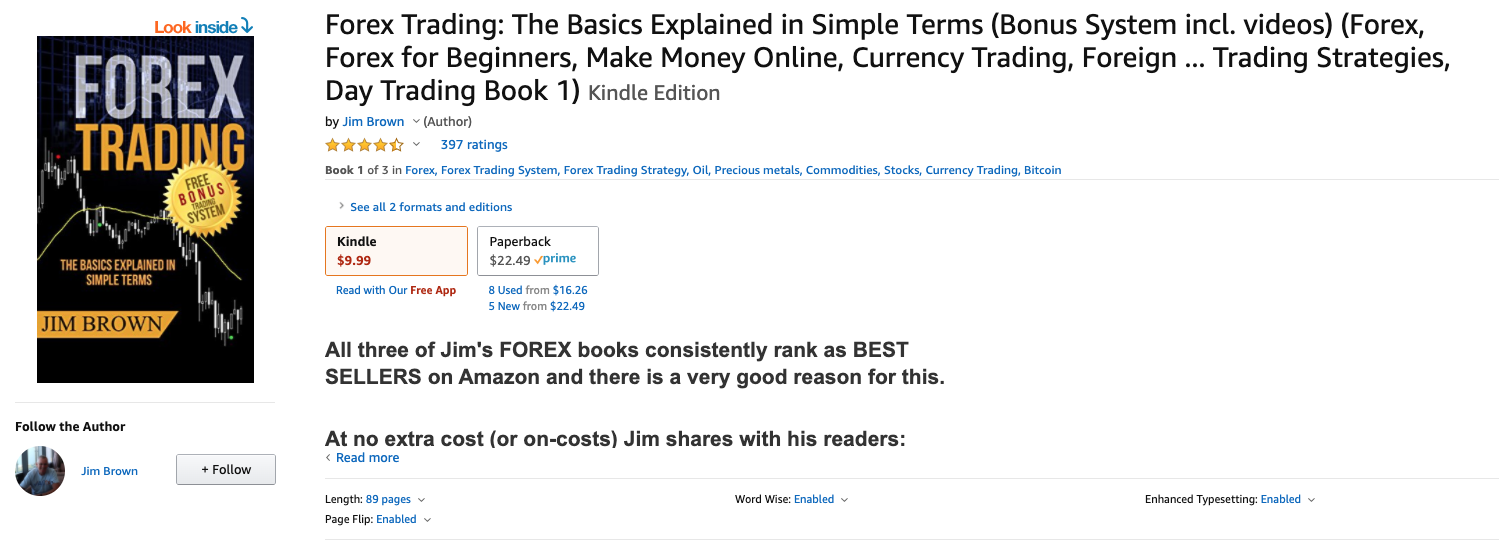 Forex Trading: The Basics Explained in Simple Terms by Jim Brown