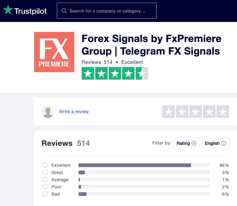 ForexSignals TrustPilot