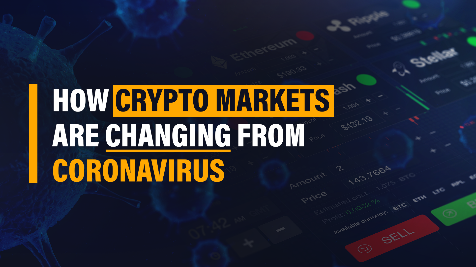 different cryptocurrency markets