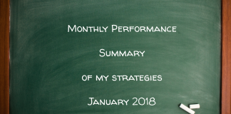 Monthly Performance Summary Of My Strategies January 2018