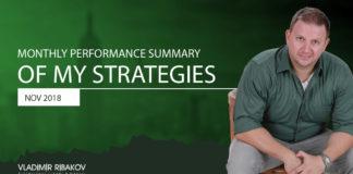Monthly Performance Summary Of My Strategies November 2018
