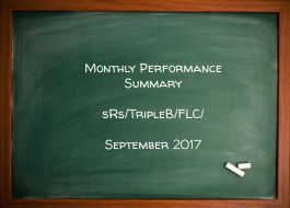 Monthly Performance Summary September 2017