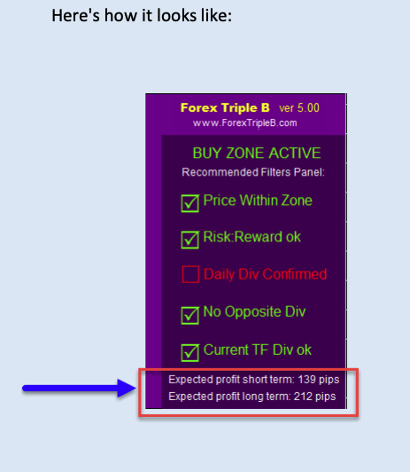 Forex Triple B settings