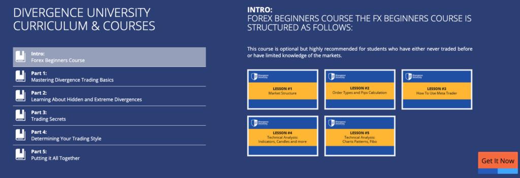 divergence university curriculum