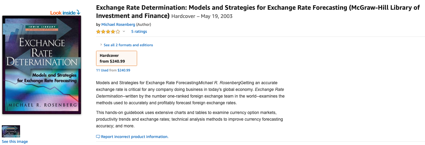 Currency Forecasting by Michael Rosenberg