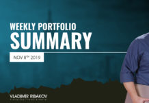 Weekly Portfolio Summary November 8th 2019
