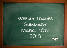 Weekly Trades Summary March 16th 2018