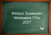 Weekly Summary November 17th 2017