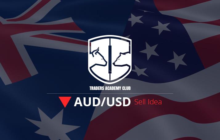 AUDUSD يوفر كسر خط التريند فرصة بيع
