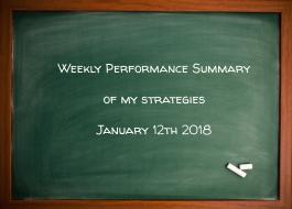 Weekly Performance Summary Of My Strategies January 12th 2018