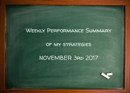 Weekly Performance Summary Of My Strategies November 3rd 2017