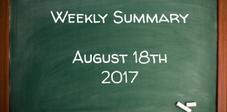 Weekly Summary August 18th 2017