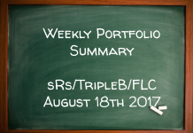 Weekly Performance Summary August 18th – sRs, Triple B, FLC