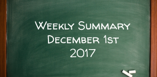 Weekly Trades Summary December 1st 2017
