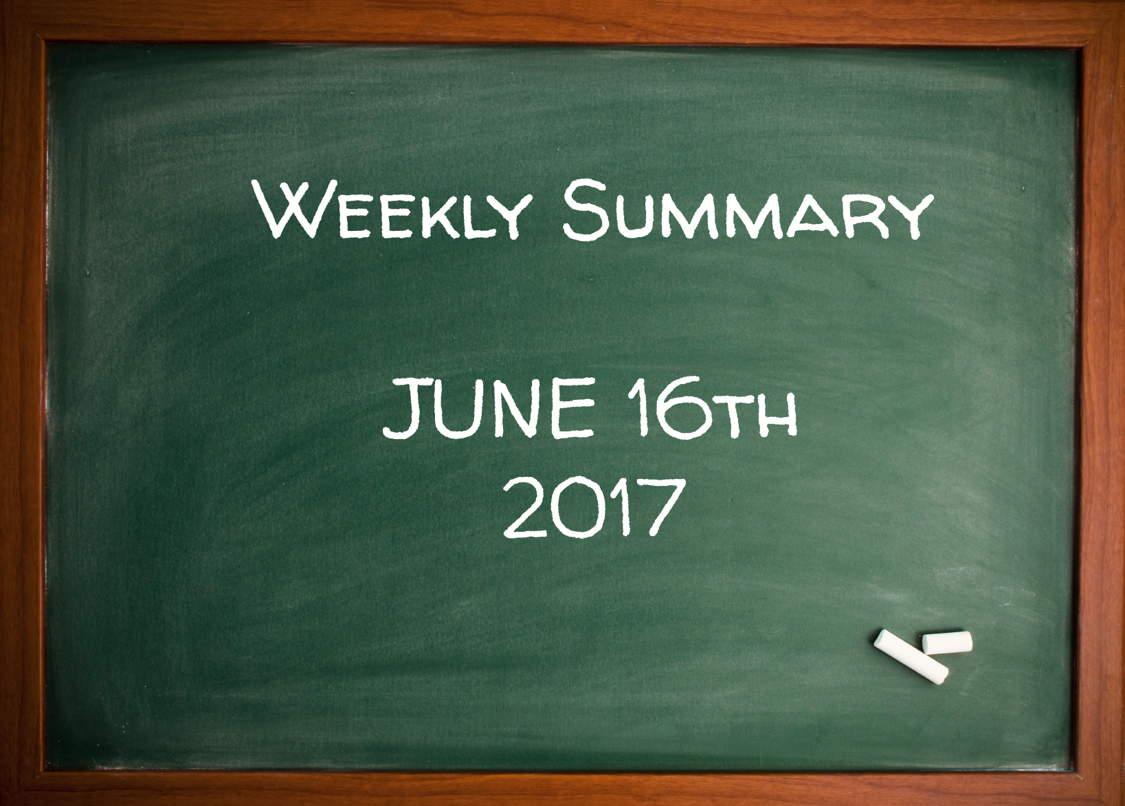 Weekly Summary June 16th 2017 - Vladimir Ribakov