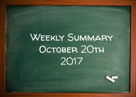 Weekly Summary October 20th 2017