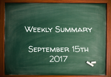 Weekly Summary September 15th 2017