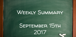 Weekly Summary September 15th 2017