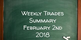 Weekly Trades Summary February 2nd 2018