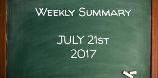 Weekly Summary July 21st 2017
