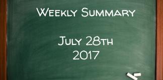 Weekly Summary July 28th 2017