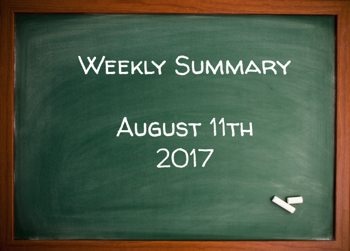 Weekly Summary August 11th 2017