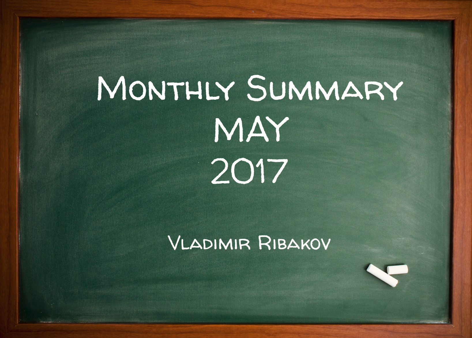 Monthly Summary May 2017